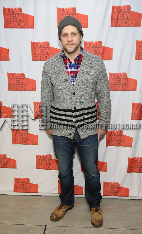 """Joe Tippett attends the New Group's """"All the Fine Boys"""" rehearsal photocall at their rehearsal studio on February 3, 2017 in New York City."""