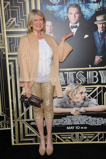 WWW.ACEPIXS.COM . . . . . .May 1, 2013...New York City...Martha Stewart attends the 'The Great Gatsby' world premiere at Avery Fisher Hall at Lincoln Center for the Performing Arts on May 1, 2013 in New York City ....Please byline: KRISTIN CALLAHAN - ACEPIXS.COM.. . . . . . ..Ace Pictures, Inc: ..tel: (212) 243 8787 or (646) 769 0430..e-mail: info@acepixs.com..web: http://www.acepixs.com .