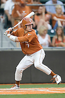 Texas Longhorns second baseman Jordan Etier #7 at bat against the Texas A&M Aggies in NCAA Big XII Conference baseball on May 21, 2011 at Disch Falk Field in Austin, Texas. (Photo by Andrew Woolley / Four Seam Images)
