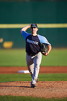 Trenton Thunder starting pitcher Eric Ruth (8) during the second game of a doubleheader against the Hartford Yard Goats on June 1, 2016 at Sen. Thomas J. Dodd Memorial Stadium in Norwich, Connecticut.  Trenton defeated Hartford 2-1.  (Mike Janes/Four Seam Images)