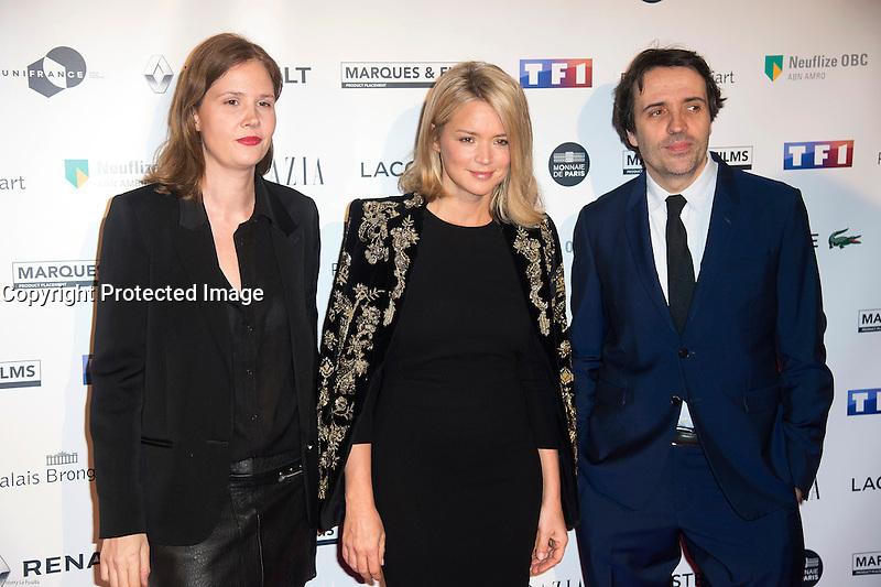 EloÔse Letissier et Virginie Efira ‡ la soirÈe des TrophÈes du Film FranÁais 2017 au Palais Brongniart ‡ Paris le 2 fÈvrier 2017. # TROPHEES DU FILM FRANCAIS 2017