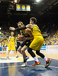 08.05.2018, EWE Arena, Oldenburg, GER, BBL, Playoff, Viertelfinale Spiel 2, EWE Baskets Oldenburg vs ALBA Berlin, im Bild<br /> <br /> Isaiah PHILMORE (EWE Baskets Oldenburg #31)<br /> Dennis CLIFFORD (ALBA Berlin #42 )<br /> Foto &copy; nordphoto / Rojahn