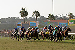 DEL MAR, CA  SEPTEMBER 2:  The field of the  Del Mar Derby (Grade ll) on September 2, 2018 at Del Mar Thoroughbred Club in Del Mar, CA.(Photo by Casey Phillips/Eclipse Sportswire/Getty ImagesGetty Images