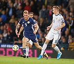 06.09.2019 Scotland v Russia, European Championship 2020 qualifying round, Hampden Park:<br /> Oli McBurnie and Andrei Semenov