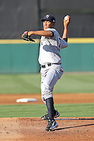 4/24/2010 Pitcher Hector Noesi of the Tampa Yankees, Florida State League Single-A affiliate of the New York Yankees, during a game at Joker Marchant Stadium in Lakeland, FL. Photo by: Mark LoMoglio