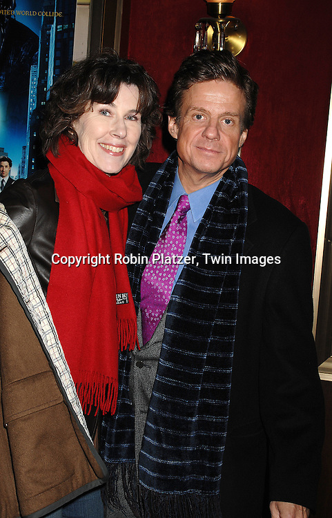 """Sandy Kenyon and wife..arriving at the special screening of """"Enchanted"""" on November 19, 2007 at The Ziegfeld in New York City. ..The screening was in celebration of the movie being made in New York...Robin Platzer, Twin Images"""