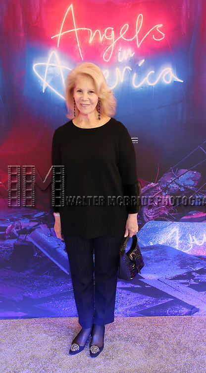"""Daryl Roth attends the Broadway Opening Night Arrivals for """"Angels In America"""" - Part One and Part Two at the Neil Simon Theatre on March 25, 2018 in New York City."""
