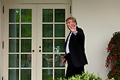 United States President Donald J. Trump departs a press conference in the Rose Garden of the White House in Washington D.C., U.S. on May 22, 2019, where he spoke about the unfair treatment he and his family received from Democratic lawmakers and the media due to the investigation conducted by Special Counsel Robert S. Mueller III. <br /> <br /> Credit: Stefani Reynolds / CNP