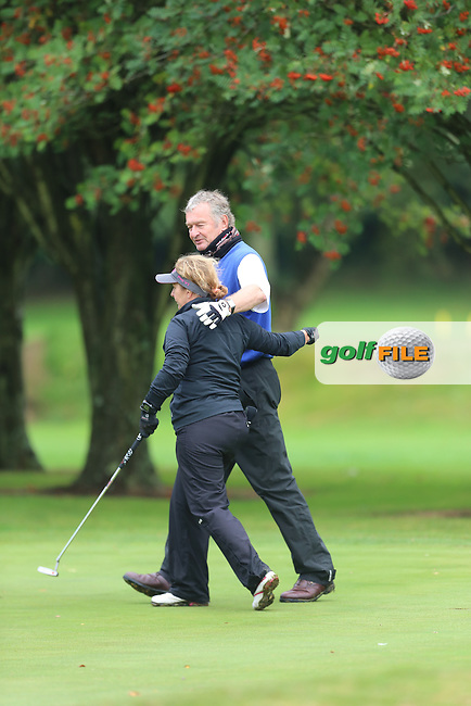 Robin and Debbie (Mahee Island) during the Ulster Mixed Foursomes Final, Shandon Park Golf Club, Belfast. 19/08/2016<br /> <br /> Picture Jenny Matthews / Golffile.ie<br /> <br /> All photo usage must carry mandatory copyright credit (© Golffile | Jenny Matthews)