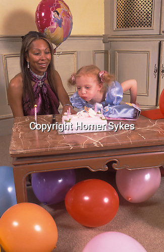 Angela and Anna ( 4 yrs old birthday party  ) Ermakowa. London, England. Love child of Boris Becker. 2004