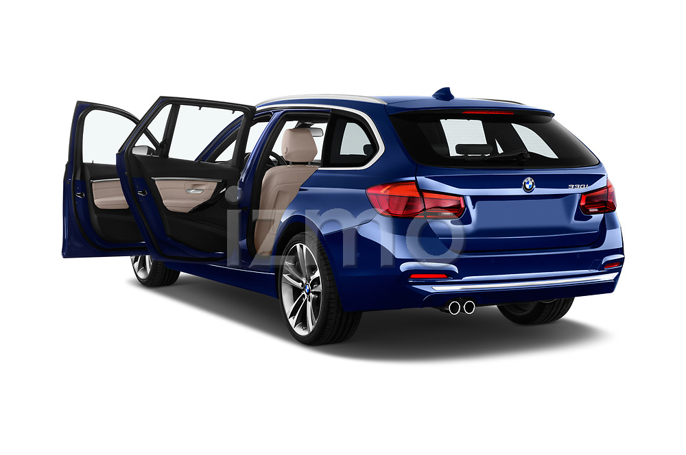Car images close up view of a 2018 BMW 3 Series Touring 330i xDrive 5 Door Wagon doors