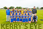 The Ballymac U14 girls team who won the Community Games Munster Provincial U14 football Final in the Na Gaeil GAA pitch on Saturday.