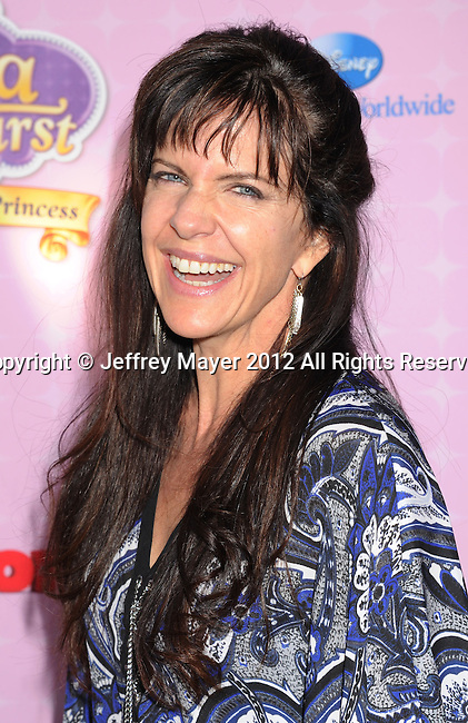 """BURBANK, CA - NOVEMBER 10: Jennifer Hale arrives at the Disney Channel's Premiere Party For """"Sofia The First: Once Upon A Princess"""" at the Walt Disney Studios on November 10, 2012 in Burbank, California."""
