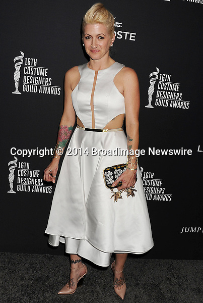 Pictured: Trish Summerville<br /> Mandatory Credit &copy; Joseph Gotfriedy/Broadimage<br /> 16th Costume Designers Guild Awards - Arrivals<br /> <br /> 2/22/14, Beverly Hills, California, United States of America<br /> <br /> Broadimage Newswire<br /> Los Angeles 1+  (310) 301-1027<br /> New York      1+  (646) 827-9134<br /> sales@broadimage.com<br /> http://www.broadimage.com