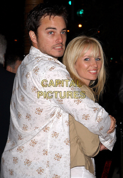 KERR SMITH & WIFE.The Grand Opening of Larry Flynt's Hustler Club of Beverly Hills in Beverly Hills, California .11 December 2003.hugging.www.capitalpictures.com.sales@capitalpictures.com.©Capital Pictures.