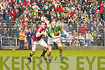 Kerry's Kieran Donaghy and Galway's David Reilly.