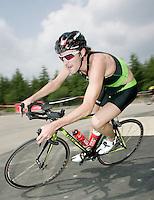 09 JUN 2007 - TREDEGAR, UK - Tim Don takes a corner on the bike on his way to winning the National Elite Mens Triathlon Championships at the second round of the Corus Elite Triathlon Series.(PHOTO (C) NIGEL FARROW)