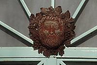 Europe/France/Aquitaine/33/Gironde/Pomerol: château Petrus - Détail du portail [Non destiné à un usage publicitaire - Not intended for an advertising use]