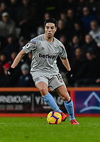 West Ham United's Samir Nasri<br /> <br /> Photographer David Horton/CameraSport<br /> <br /> The Premier League - Bournemouth v West Ham United - Saturday 19 January 2019 - Vitality Stadium - Bournemouth<br /> <br /> World Copyright © 2019 CameraSport. All rights reserved. 43 Linden Ave. Countesthorpe. Leicester. England. LE8 5PG - Tel: +44 (0) 116 277 4147 - admin@camerasport.com - www.camerasport.com