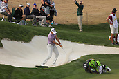 January 31st 2019, Scotsdale, Arizona, USA; Blarney's Hamilton blasts out of a sand trap during the first round of the Waste Management Phoenix Open