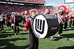 Wisconsin Badgers band member plays during the 5th quarter after an NCAA Big Ten Conference football game against the Maryland Terrapins Saturday, October 21, 2017, in Madison, Wis. The Badgers won 38-13. (Photo by David Stluka)