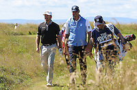 Graeme McDowell (NIR) heads out to the 4th fairway during Round One of the 145th Open Championship, played at Royal Troon Golf Club, Troon, Scotland. 14/07/2016. Picture: David Lloyd | Golffile.<br /> <br /> All photos usage must carry mandatory copyright credit (&copy; Golffile | David Lloyd)