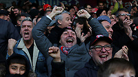 Brentford fans celebrate their 7-0 victory during Brentford vs Luton Town, Sky Bet EFL Championship Football at Griffin Park on 30th November 2019