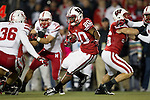 Wisconsin Badgers running back James White (20) carries the ball during an NCAA Big Ten Conference college football game against the Nebraska Cornhuskers on October 1, 2011 in Madison, Wisconsin. The Badgers won 48-17. (Photo by David Stluka)
