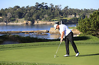 Shane Lowry (IRL) putts on the 4th green at Pebble Beach course during Friday's Round 2 of the 2018 AT&amp;T Pebble Beach Pro-Am, held over 3 courses Pebble Beach, Spyglass Hill and Monterey, California, USA. 9th February 2018.<br /> Picture: Eoin Clarke | Golffile<br /> <br /> <br /> All photos usage must carry mandatory copyright credit (&copy; Golffile | Eoin Clarke)
