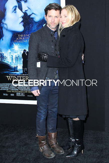 """NEW YORK, NY - FEBRUARY 11: Jon Patrick Walker, Hope Davis at the World Premiere Of Warner Bros. Pictures' """"Winter's Tale"""" held at Ziegfeld Theatre on February 11, 2014 in New York City. (Photo by Jeffery Duran/Celebrity Monitor)"""