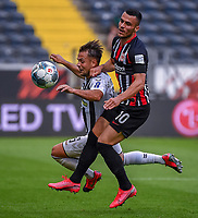 v.l. Amir Abrashi (SC Freiburg), Filip Kostic (Eintracht Frankfurt) - 26.05.2020 Fussball 1.Bundesliga Spieltag 28, Eintracht Frankfurt  - SC Freiburg emspor, <br /> <br /> Foto: Jan Huebner/Pool/ Via Marc Schueler/Sportpics.de<br /> (DFL/DFB REGULATIONS PROHIBIT ANY USE OF PHOTOGRAPHS as IMAGE SEQUENCES and/or QUASI-VIDEO), Editorial use only. National and International News Agencies OUT