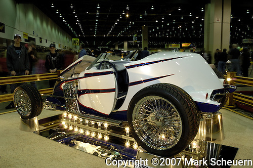 Gene Gerber's 1937 Ford Boattail at the 2007 Detroit Autorama