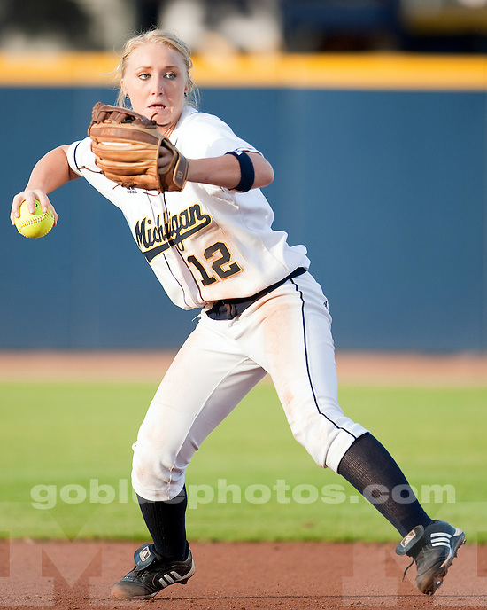 University of Michigan softball 7-6 exhibition victory (in nine innings) over Michigan State at Alumni Field in Ann Arbor, MI, on October 1, 2010.