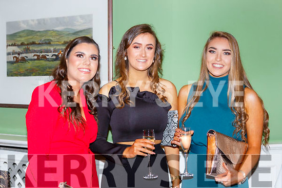 Saoirse Bennett, Laura O'Sullivan and Eimear Talbot Fossa GAA club 50th anniversary social in the Dromhall Hotel on Saturday night