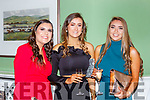 Saoirse Bennett, Laura O'Sullivan and Eimear Talbot Fossa GAA club 50th anniversary social in the Dromhall Hotel on Saturday night