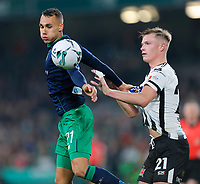3rd November 2019; Aviva Stadium, Dublin, Leinster, Ireland; FAI Cup Final Football, Dundalk Football Club versus Shamrock Rovers; Graham Burke of Shamrock Rovers shoulders the ball as Daniel Cleary of Dundalk FC looks on - Editorial Use
