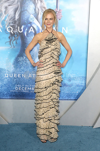 LOS ANGELES, CA - DECEMBER 12: Nicole Kidman  at the world premiere of Aquaman at The TCL Chinese Theater in Los Angeles, California on December 12, 2018. Credit: Faye Sadou/MediaPunch