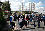 Huddersfield fans stream away from the match during the English Championship play-off 1st leg match at the John Smiths Stadium, Huddersfield. Picture date: May 13th 2017. Pic credit should read: Simon Bellis/Sportimage