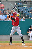 Drew Maggi (7) of the Altoona Curve bats during a game against the New Britain Rock Cats at New Britain Stadium on June 25, 2014 in New Britain, Connecticut.  New Britain defeated Altoona 3-1.  (Gregory Vasil/Four Seam Images)