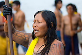 Altamira, Brazil. Kayapo Indian woman.
