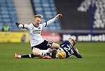 Mark Duffy of Sheffield United is challenged by George Saville of Millwall during the championship match at The Den Stadium, Millwall. Picture date 2nd December 2017. Picture credit should read: Robin Parker/Sportimage