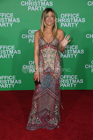 WESTWOOD, CA - DECEMBER 07: Jennifer Aniston arrives at the premiere of Paramount Pictures' 'Office Christmas Party' at Regency Village Theatre on December 7, 2016 in Westwood, California.  (Credit: Parisa Afsahi/MediaPunch).