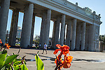 The main entrance to Gorky Park on Saturday, August 17, 2013 in Moscow, Russia.