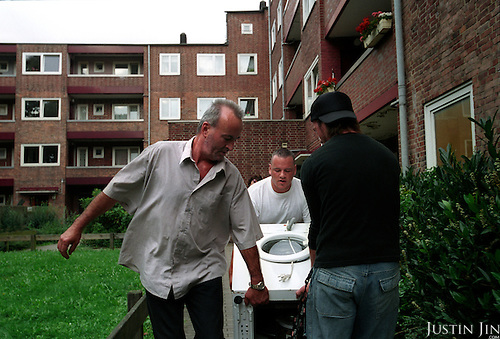 Daily life in Hamburg's Wilhemsburg area, across the Elbe river from the centre. ....Wilhemsburg is one of the most ethnically diverse quarters in Hamburg, with Africans, former Yugloslavians and Turks as the largest groups. ....
