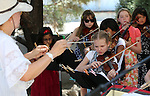 Musicians from the Strings in the Summer program perform at Sierra Place in Carson City, Nev., on Thursday, July 29, 2015.<br /> Photo by Cathleen Allison