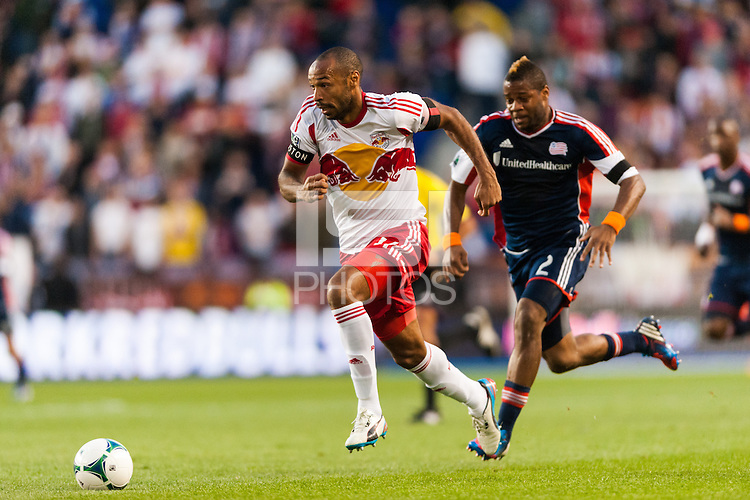 Thierry Henry (14) of the New York Red Bulls. The New York Red Bulls defeated the New England Revolution 4-1 during a Major League Soccer (MLS) match at Red Bull Arena in Harrison, NJ, on March 20, 2013.