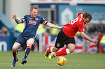 Michael Gardyne gets the ball from Niko Kranjcar as Ross county counter and score