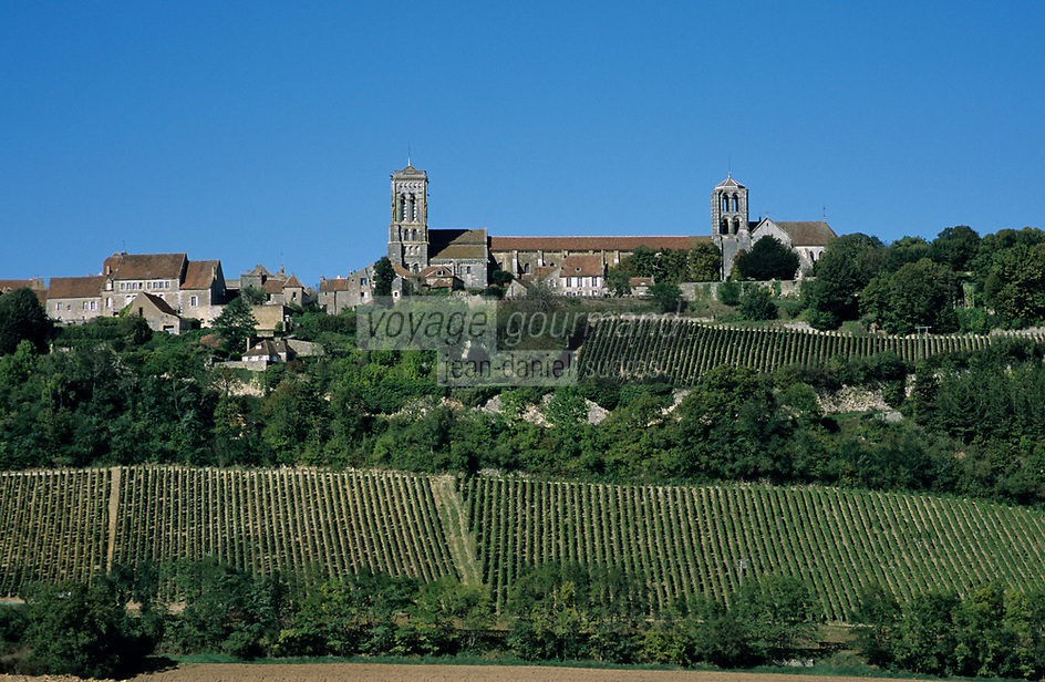 Europe/France/89/Yonne/Vézelay : Le village et le vignoble AOC Bourgogne Vézelay