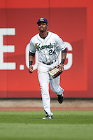 Cedar Rapids Kernels right fielder Jaylin Davis (24) during a game against the Dayton Dragons on July 24, 2016 at Perfect Game Field in Cedar Rapids, Iowa.  Cedar Rapids defeated Dayton 10-6.  (Mike Janes/Four Seam Images)