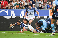 Julien Dumora of Castres scores a try during the French Final Top 14 match between Montpellier and Castres at Stade de France on June 2, 2018 in Paris, France. (Photo by Anthony Dibon/Icon Sport)
